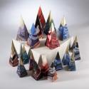 Bougie Artisanale et Décorative Marbrée Grande Pyramide