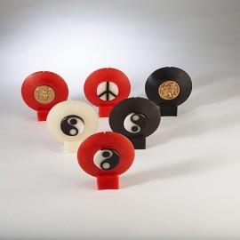 Bougie Décorative  Marbrée  Zodiaque ou Yin-Yang